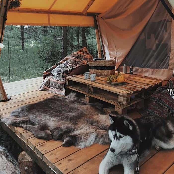 Сафари тент на берегу реки. Загородный отдых в стиле Бохо в Ленобласти. BOHO CAMP